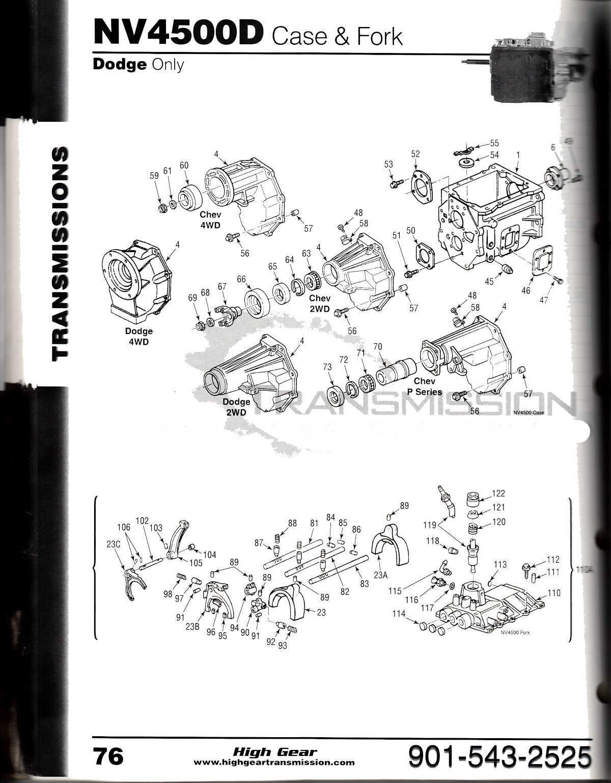nv-4500 manual transmission diagrams